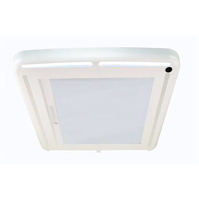 RV Vent Blind - MaxxShade Plus Roof Vent Shade With LED Lights White