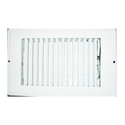 Floor Registers - Metal With Damper - 4 x 12 Inches - White
