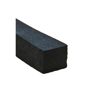 "RV Seals - AP Products Foam Seal Ribbed With PSA Tape 1""W x 1-1/4""H x 25'L - Black"