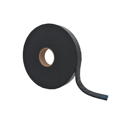 "Cap Tape - AP Products Mylar Backed Foam Tape With Adhesive 1-1/2""W x 1/4""H x 30'L - Black"