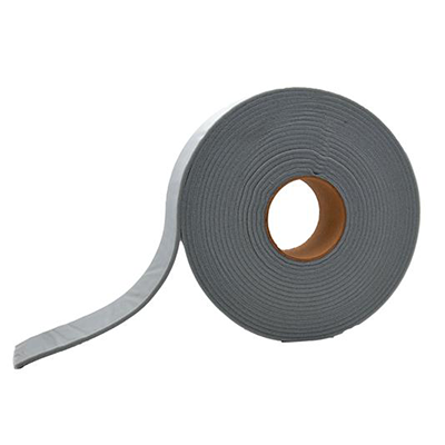 "Cap Tape - AP Products Mylar Backed Foam Tape With Adhesive 1-1/2""W x 3/8""H x 30'L - Grey"