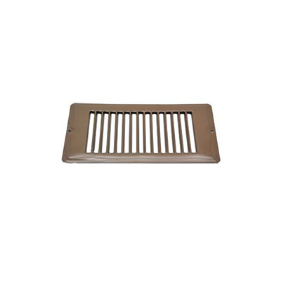 Floor Registers - Metal No Damper - 4 x 8 Inches - Brown