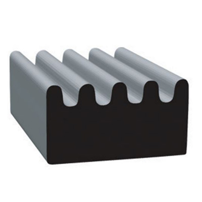 RV Seals - Clean Seal EPDM Channel Seal With Adhesive Tape 3/8