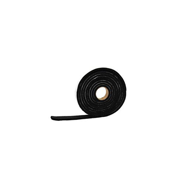 "Weather Stripping - AP Products Vinyl Foam Tape 1/4""W x 1/8""H x 50'L Roll - Black"