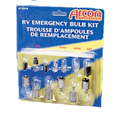 Light Bulbs - Arcon Light Bulb Kit With 13 Various Size Replacement Bulbs 12V