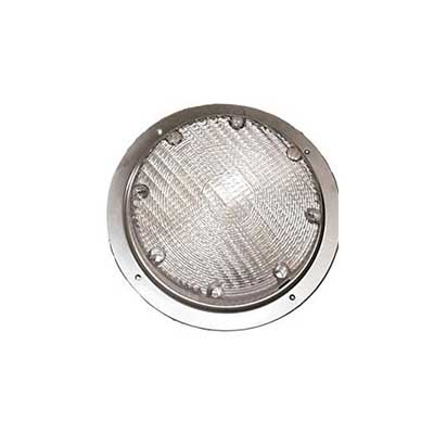 RV Porch Lights - Arcon - 12V - Round - No Switch - Silver