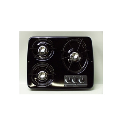 Gas Cooktop - Atwood 3-Burner Drop-In-Counter Propane Cooktop Black