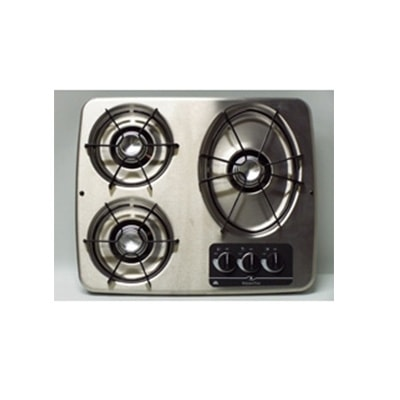 Gas Cooktop - Atwood 3-Burner Drop-In-Counter Propane Cooktop Stainless Steel