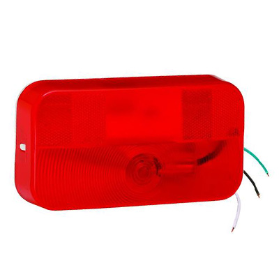 Tail Lights - Bargman Stop & Turn Surface Mount Tail Light With Radius Corners - Red