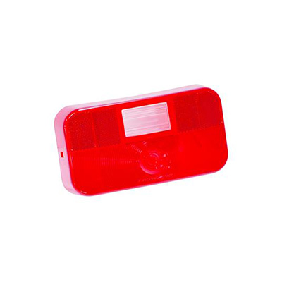 Tail Light Lens - Bargman 34-92-002 And 30-92-007 Lens With Radius Corners/Back-Up Light