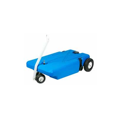 Tote Tanks - Barker Manufacturing 16G Portable Waste Tank With Tow Handle & 4 Wheels
