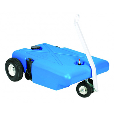 Portable Waste Tank - Barker Tote-Along Tank With Tow Handle And 4 Wheels - 25 Gallons