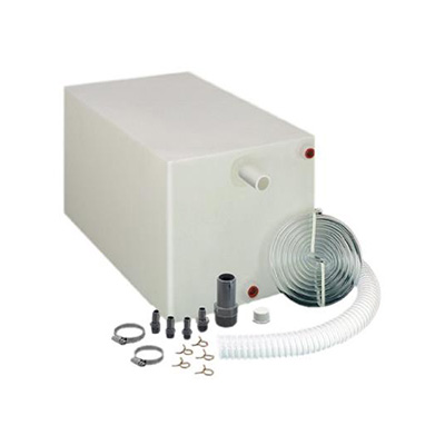 Water Holding Tank - Barker 15G Fresh Water Holding Tank With Installation Fittings - White