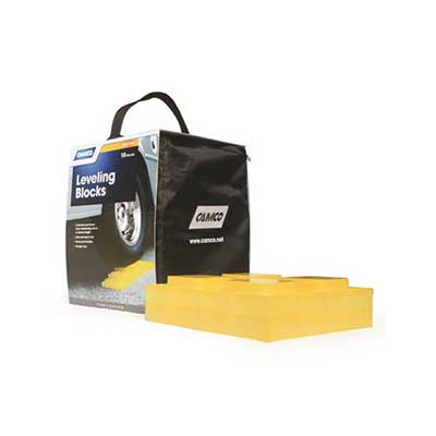 Leveling Blocks - Camco Stackable Leveling Blocks With Storage Bag 10 Per Pack