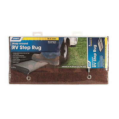 Step Rugs - Camco Wrap Around Regular Front RV Step Rug - 18