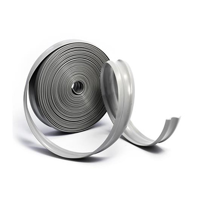 "Vinyl Insert - Camco Trim And Molding Insert 1""W x 25'L Roll - Light Grey"