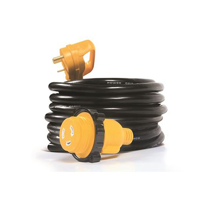 Power Cord - Camco Power Grip Extension Cord With Locking Ring - 30A - 25'L
