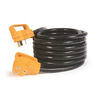 Power Cord - Camco Power Grip Extension Cord - 30A - 25'L