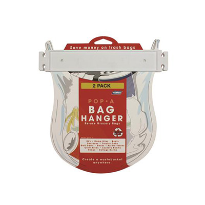 Bag Hanger - Camco Pop-A-Bag Hanger With Mounting Tape 2 Per Pack