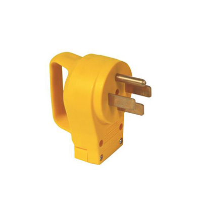 Power Cord Plug End - Power Grip 50A Male Power Cord Plug End With Handle