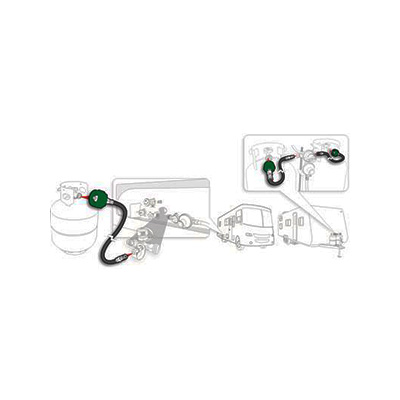 Propane Hose - Camco Pigtail Hose Connects Full-Size Propane Tank To RV Regulator 60