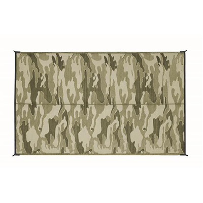 Camping Mats - Camco Camouflage Camping Mat 6' x 9' Green