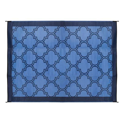 Camping Mats - Camco Lattice Outdoor Mat 6' x 9' Blue