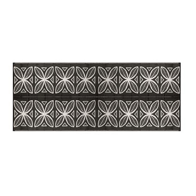 Mats - Camco Botanical 8' x 16' Outdoor Mat - Charcoal And White