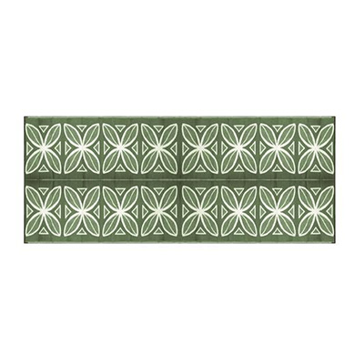 Mats - Camco Botanical 8' x 16' Outdoor Mat - Green And White