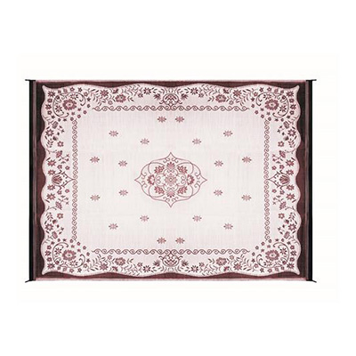 Camping Mats - Camco - Outdoor - Oriental - 9 x 12 Feet - Burgundy And White