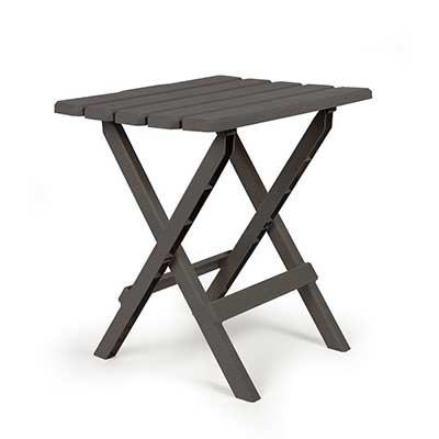 Camping Tables - Camco Large Adirondack Plastic Table - Charcoal