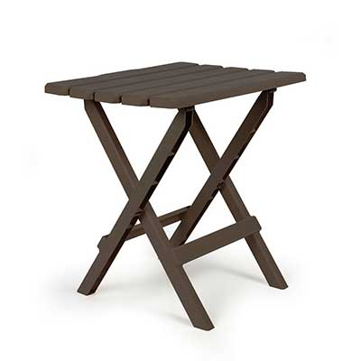 Camping Tables - Camco Large Adirondack Plastic Table - Mocha