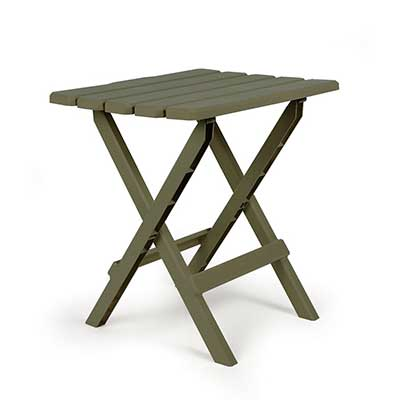 Camping Tables - Camco Large Adirondack Plastic Table - Sage
