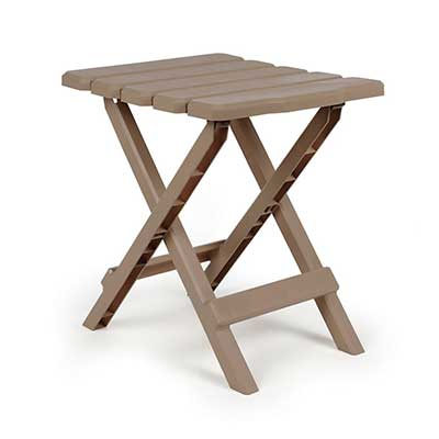 Camping Tables - Camco Small Adirondack Plastic Table - Champagne