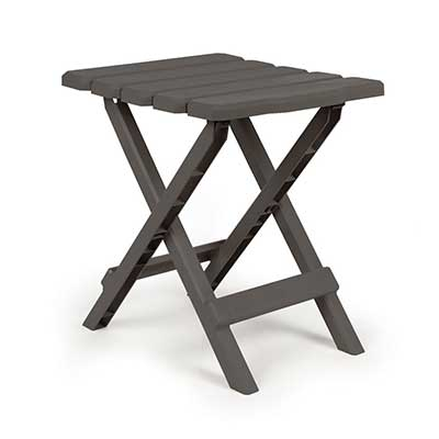 Camping Tables - Camco Small Adirondack Plastic Table - Charcoal
