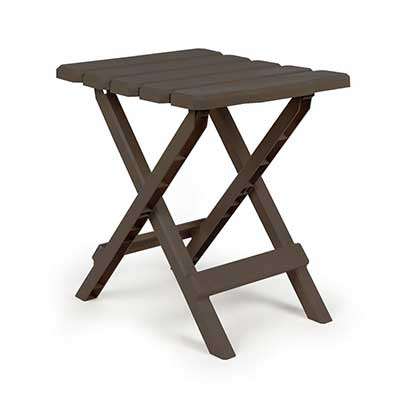 Camping Tables - Camco Small Adirondack Plastic Table - Mocha