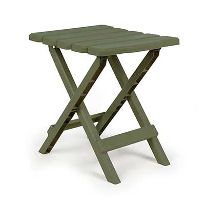 Camping Tables - Camco Small Adirondack Plastic Table - Sage