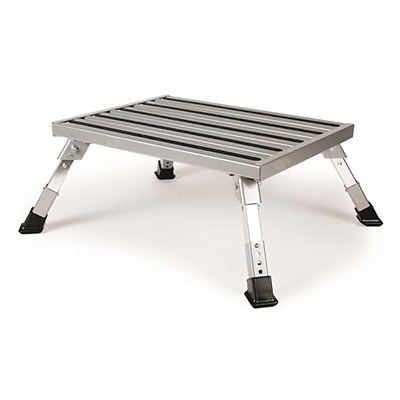 Step Stool - Camco Platform Step Stool With Height Adjustment - 1000 Lbs Capacity