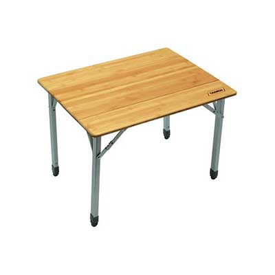 Camping Tables - Camco Bamboo-Top Folding Table With Aluminum Legs