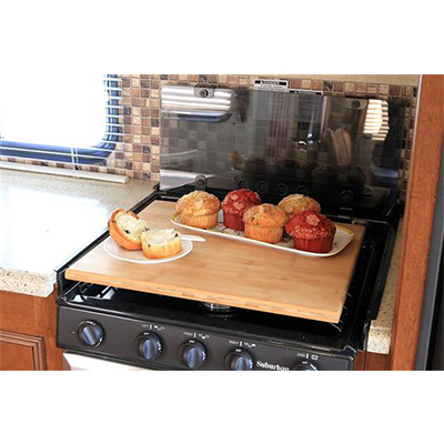 RV Range Covers - Silent Top Stove Top Cover Bamboo