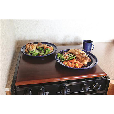 RV Range Covers - Silent Top Stove Top Cover Bordeaux