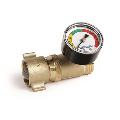 Water Pressure Regulator - With Gauge - Brass