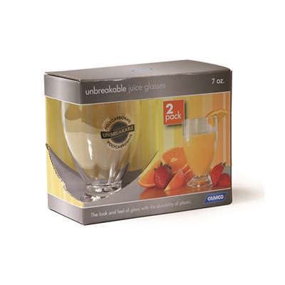 Camping Glasses - Camco Polycarbonate Juice Glasses 2 Per Pack