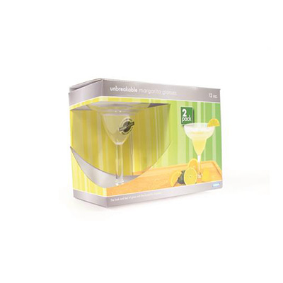 Camping Glasses - Camco Polycarbonate Margarita Glasses 2 Per Pack