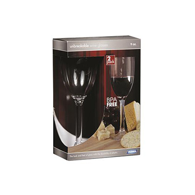 Camping Glasses - Camco Polycarbonate Wine Glasses 2 Per Pack