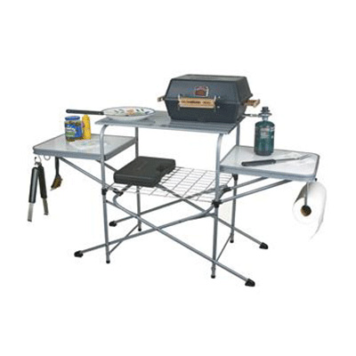 Barbecue Table - Camco Deluxe Steel & Aluminum Grill Table With Carry Case