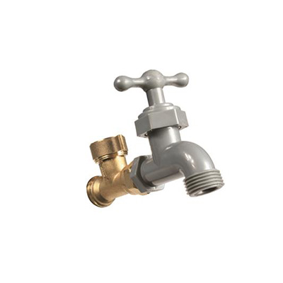 Exterior Water Faucet - Camco - Diverter - 2 Garden Hose Connections