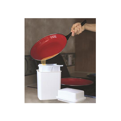 Grease Storage Bin - Camco Grease Storage Container With 3 Foil-Lined Bags