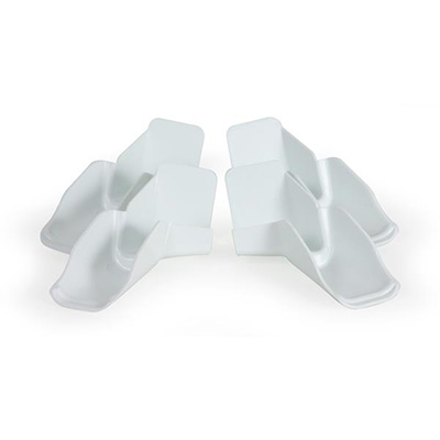 Gutter Spouts - Camco Clip-On Gutter Spouts With Extensions 4 Per Pack White