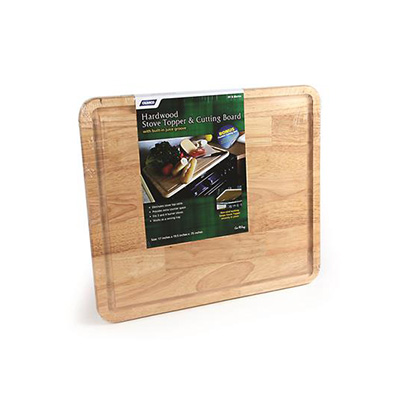 RV Range Covers - Camco Hardwood Stove Topper & Cutting Board